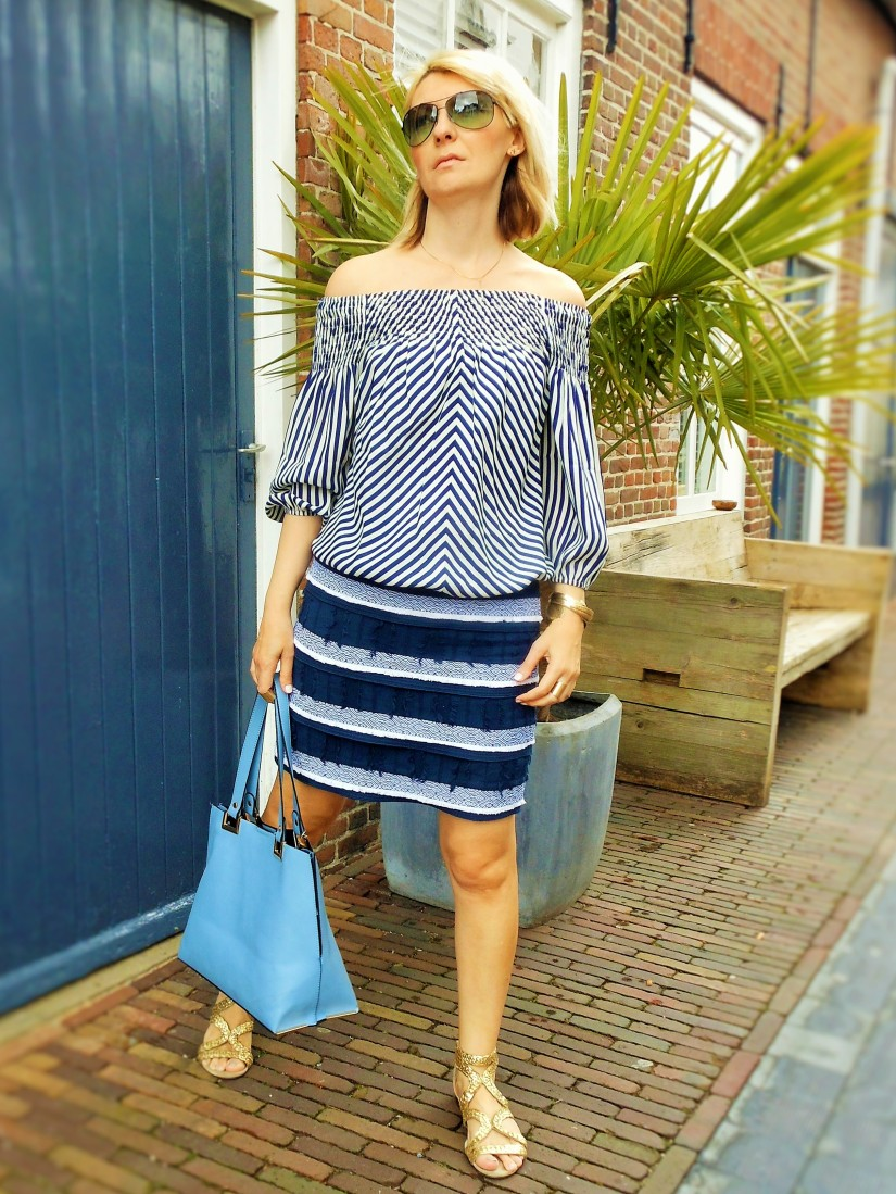 navy look, marine look, fashion blog