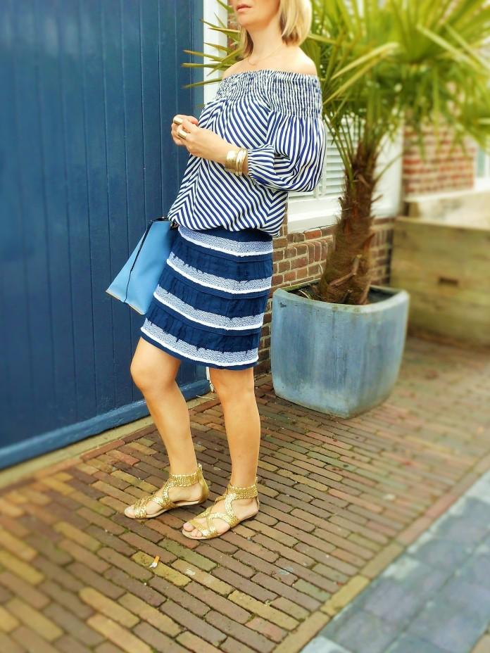 off-the-shoulder blouse, fashion blog