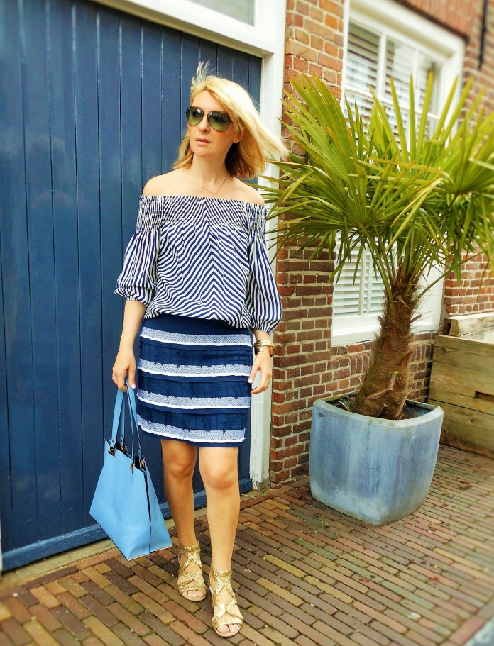 how to wear off-the-shoulder blouse, fashion blog