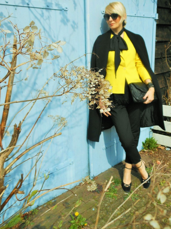 yellow coat fashion, fashion blogger, yellow blazer