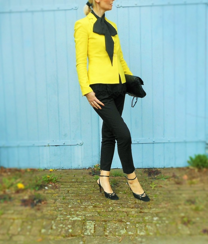 yellow Zara blazer, yellow Zara coat, yellow Zara jacket