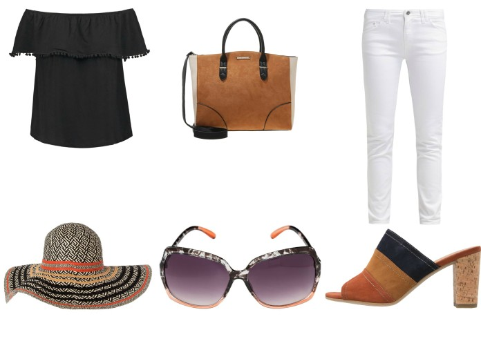 how to wear white jeans, how to wear stro hat