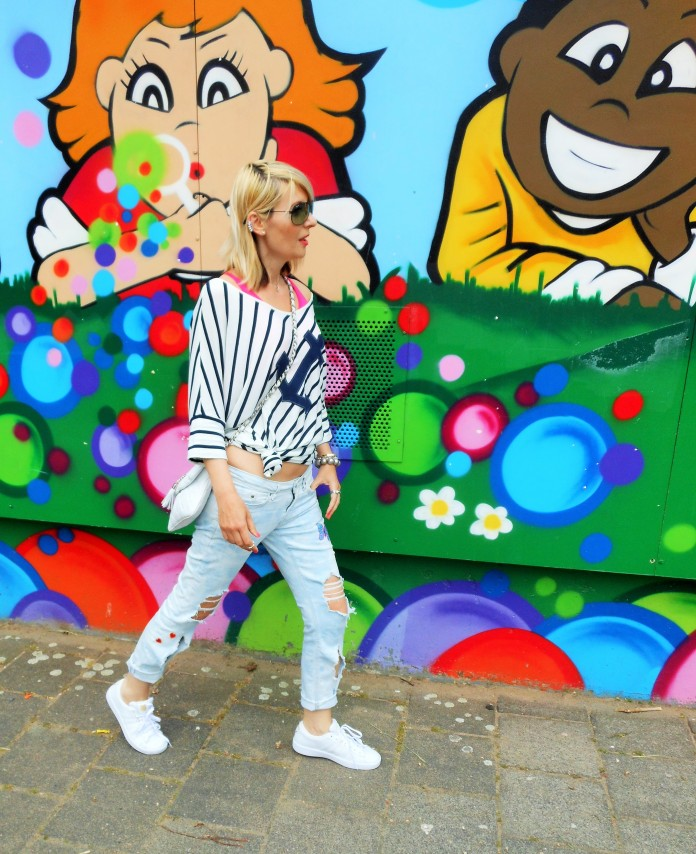 navy look fashion blogger