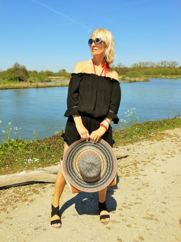 fashion blogger jumpsuit black