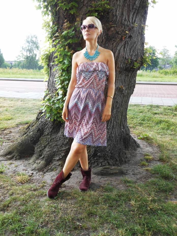 how to wear off-shoulder dress fashion blogger