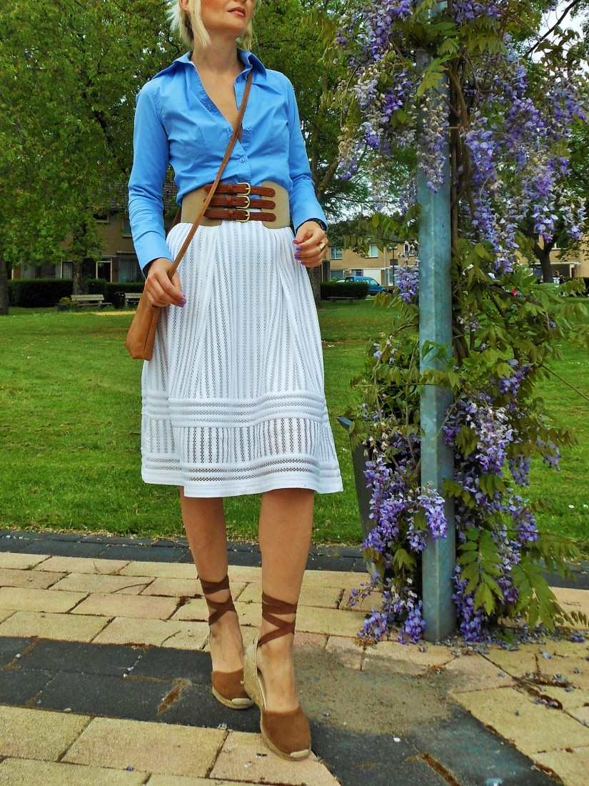 how to wear waist belt blogger