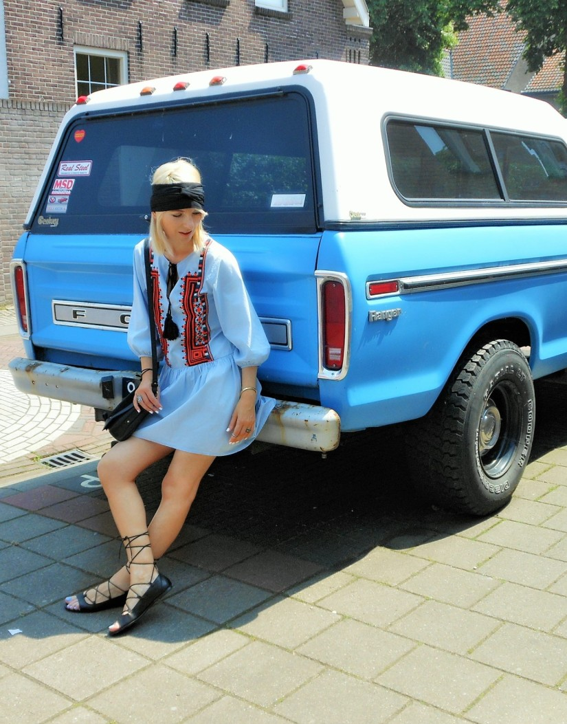 Bohemian Embroidery Dress fashion blog