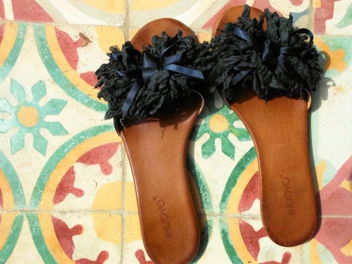 fringe slippers fashion