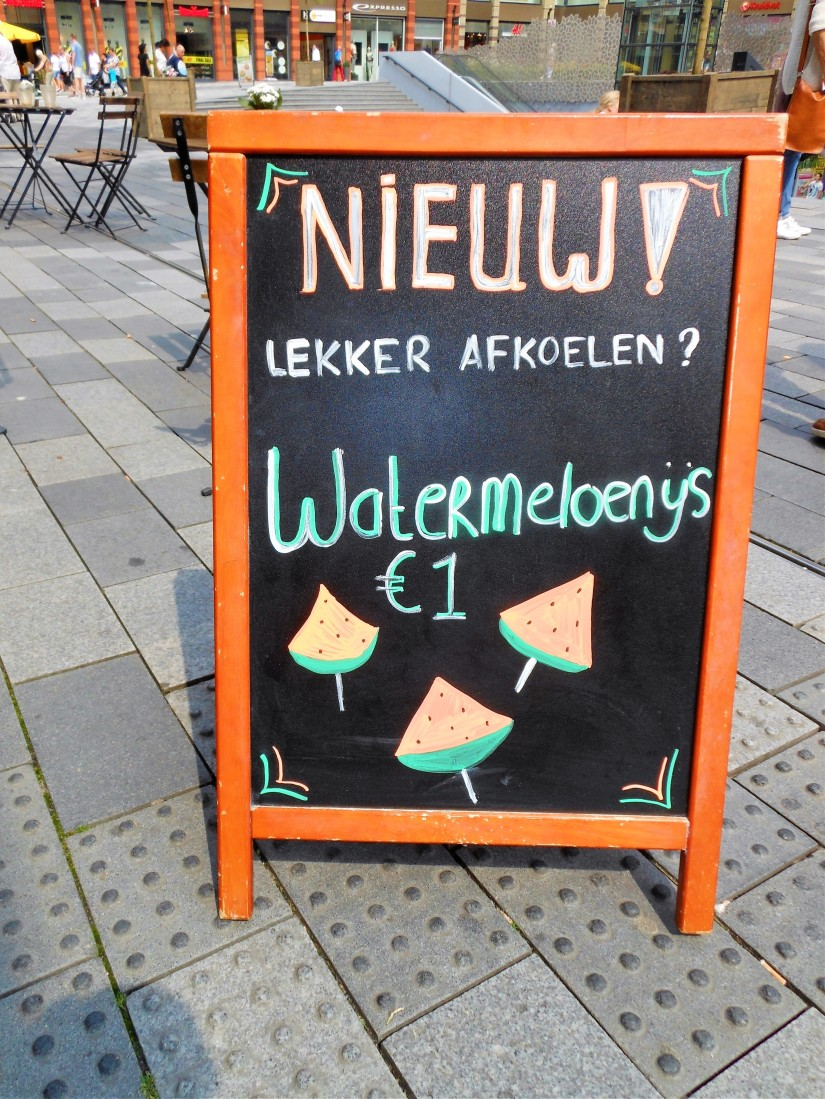 watermeloen ijs, wattermelon icecream