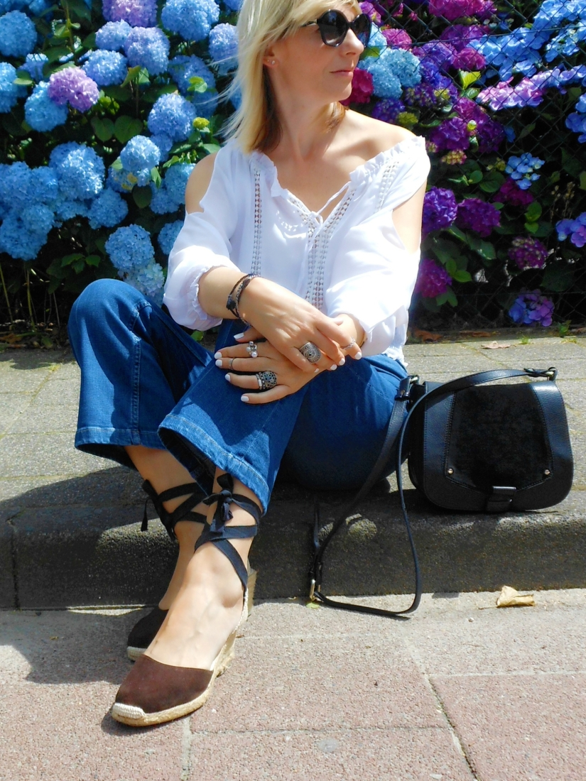 high waist kropped jeans boho blogger