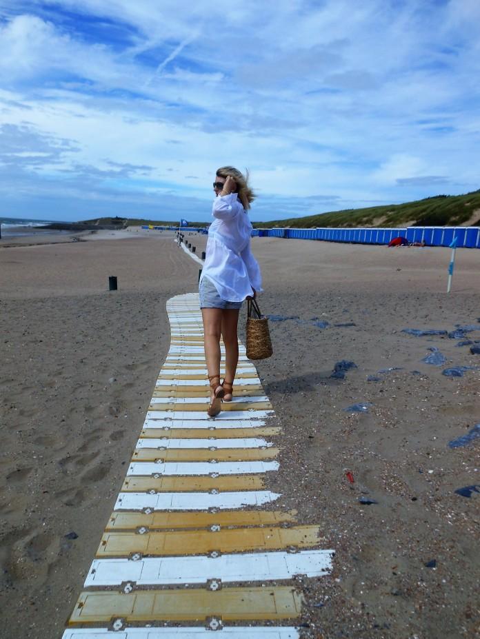 long blouse fashion, long blouse blogger, beach look blogger