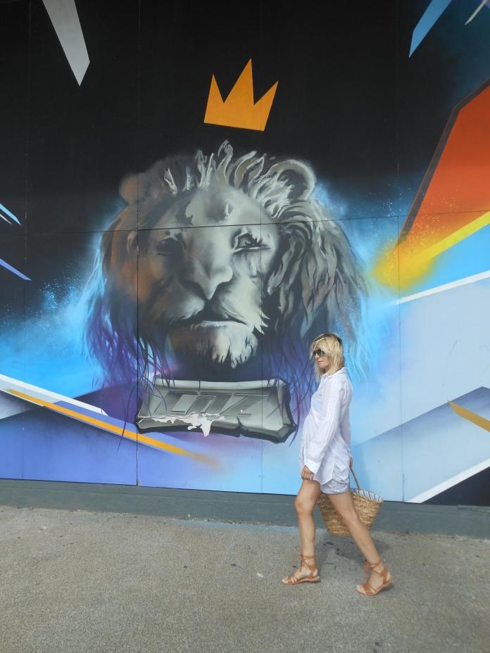 graffiti lion, graffiti wall lion, graffiti art Vlissingen