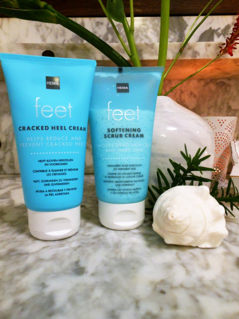 Hema feet products, Hema softening scrub cream, Hema cracked heel cream