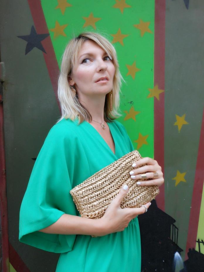 green dress blogger, green dress