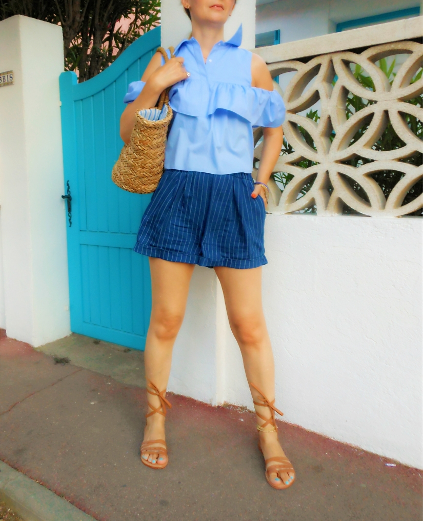 waist shorts stripes blogger