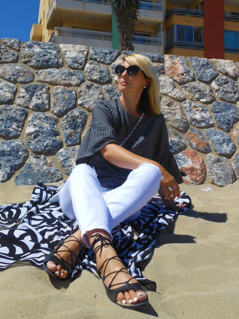 lace-up sandals, lace-up sandals blogger