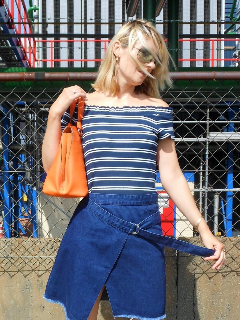 Glamorous wrap denim skirt, Glamorous skirt, Glamorous jeans skirt