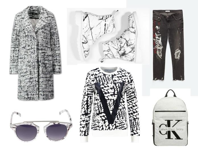 all white winter 2016, all white winter fashion, all white fashion, white graphic print fashion, marble print fashion