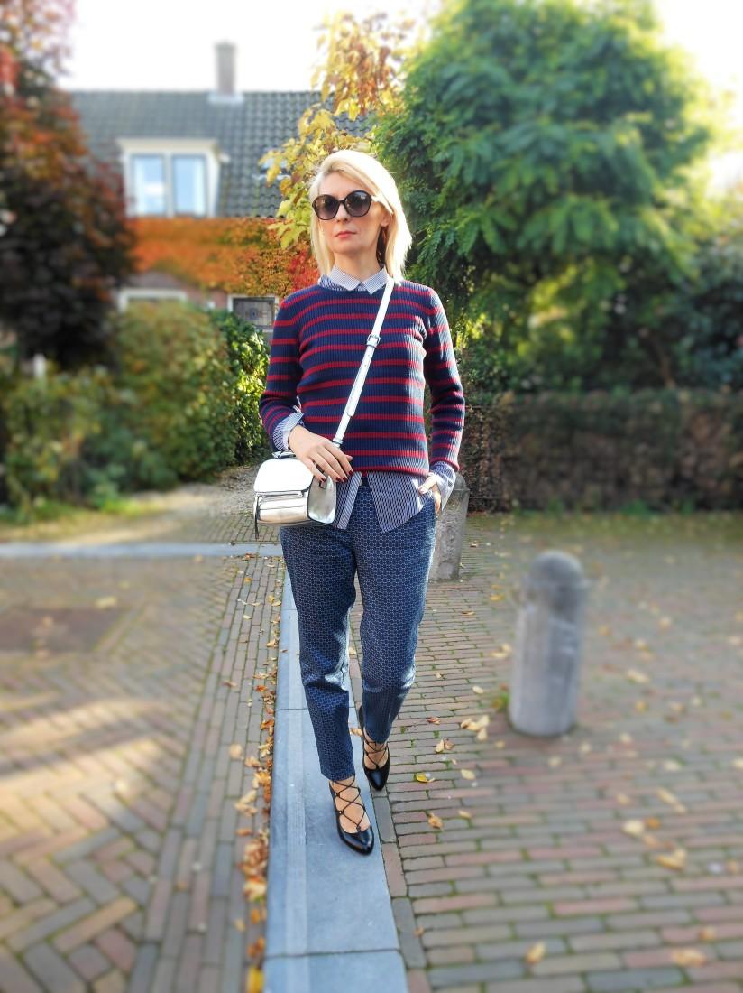 stripes blogger, stripes pullover blogger, stripes sweater blogger