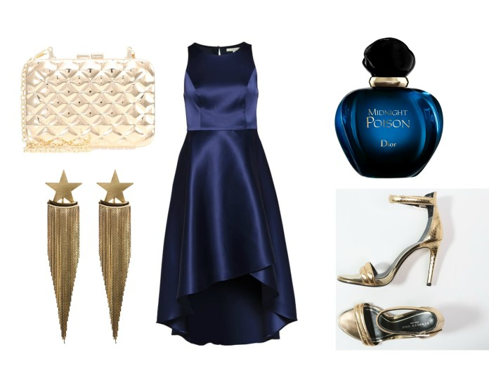 how to wear blue dress, how to wear blue dress blogger, blue party dress blogger, how to wear blue and gold, blue and gold blogger