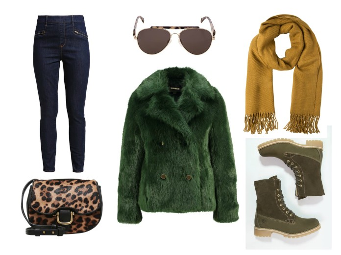 winter oufit ideas blogger, green outfit ideas blogger