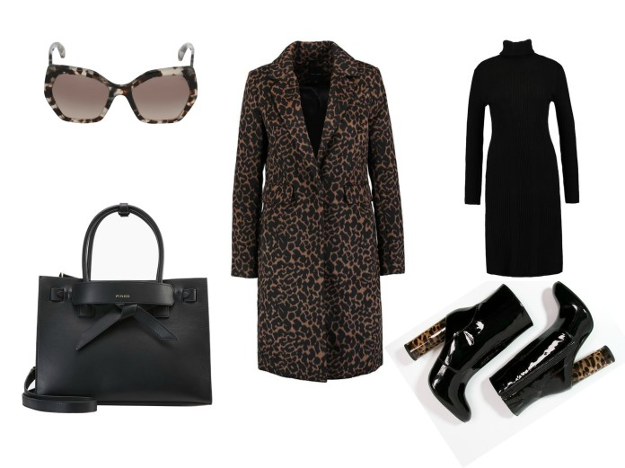 winter outfit ideas blogger, leopard coat blogger, all black outfit blogger