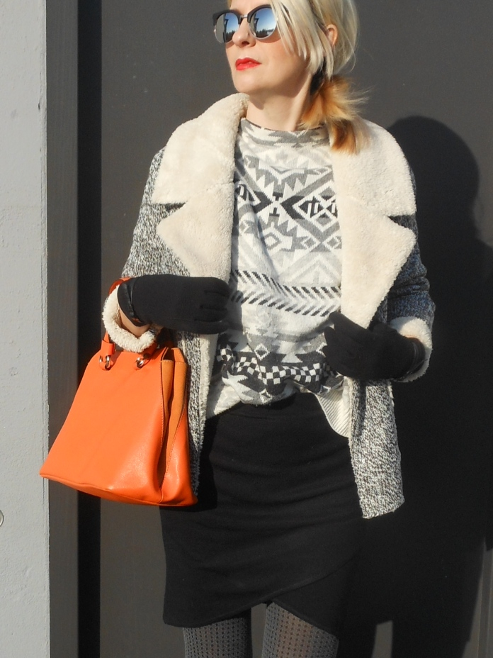 nordic print jumper, nordic jumper blogger, how to wear nordic jumper