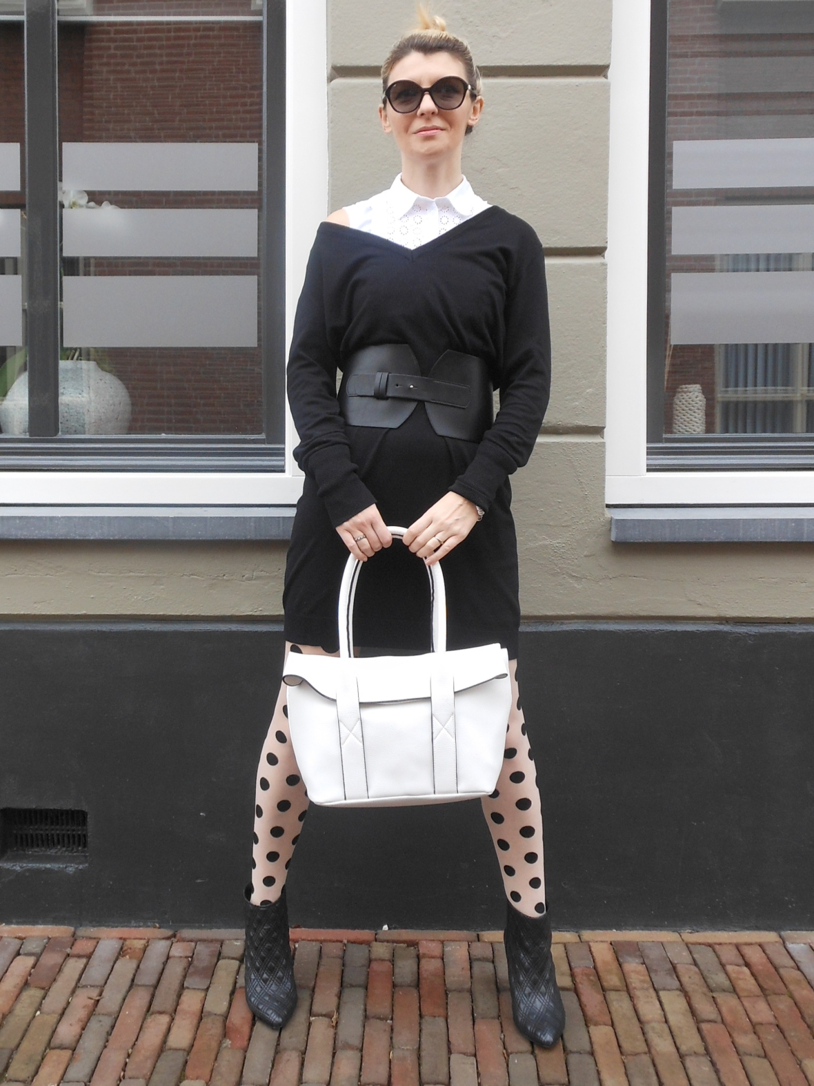 black and white blogger, black and white outfit blogger, black and white outfit