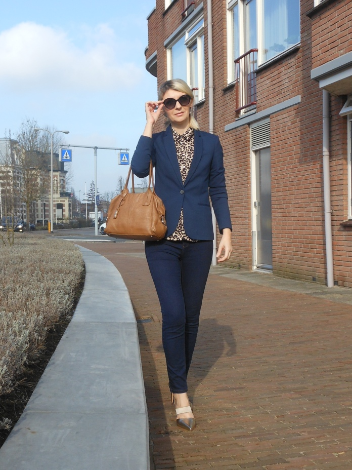 animal print blogger, how to wear animal print, animal print office